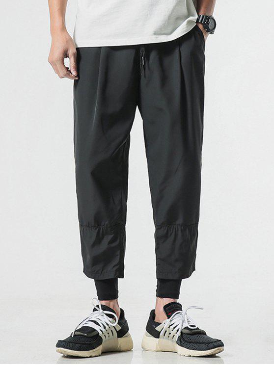 سروال ضيق الضيق - أسود S