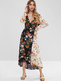 Floral Wrap Dress - Multi L