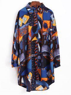 Vestido Estampado De La Camisa - Multicolor