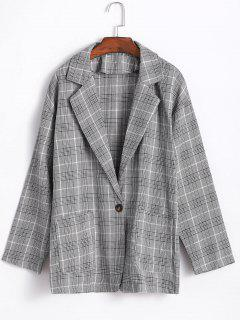 Plaid Boyfriend Blazer - Multi