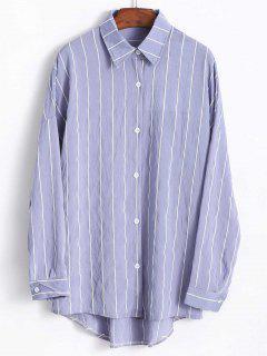 Oversized Stripe Shirt - Light Blue
