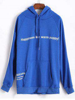 Seraph Happiness Graphic Hoodie - Blue L