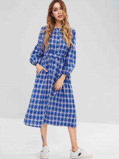 Robe Chemise à Carreaux - Multi L
