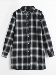 Flannel Checked Long Shirt - Multi L