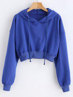 Pullover Short Hoodie - Blue M