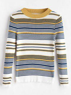 Ribbed Striped Knit Top - Multi
