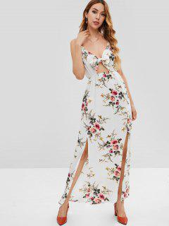 Maxi Floral Beach Slit Boho Dress - Multi L