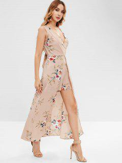 Overlay Low Cut Floral Beach Romper - Multi M