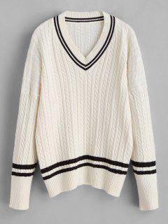 Cricket Sweater With Cable Knit - Beige