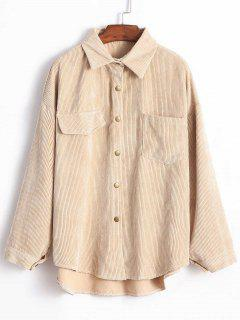 Corduroy Shirt Jacket - Light Khaki