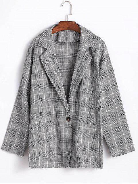 Plaid Boyfriend Blazer - Multicolor Talla única Mobile