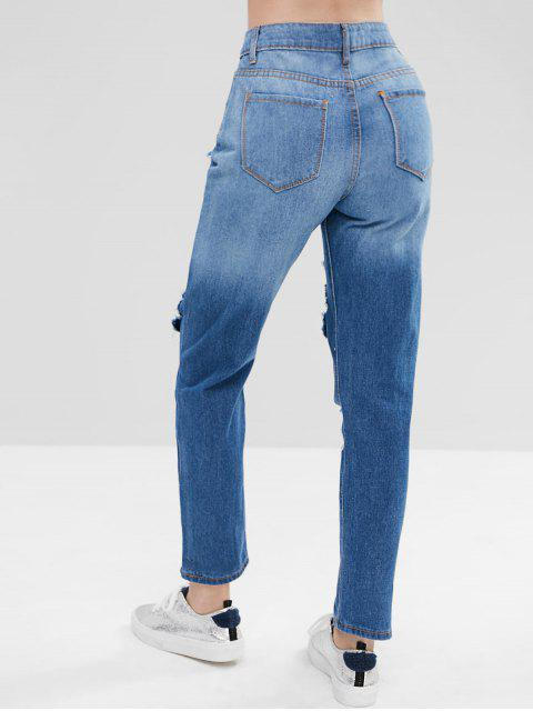 Hole angustiados Jeans - Azul L Mobile