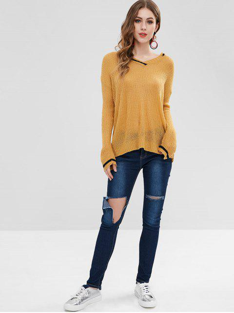 Hole Ripped Jeans - Azul M Mobile