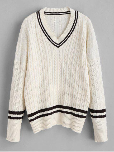 new Cricket Sweater with Cable Knit - BEIGE ONE SIZE Mobile