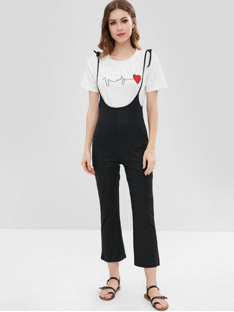 Pantalones de Tirantes de Correas Autoatascadas - Negro XL Mobile