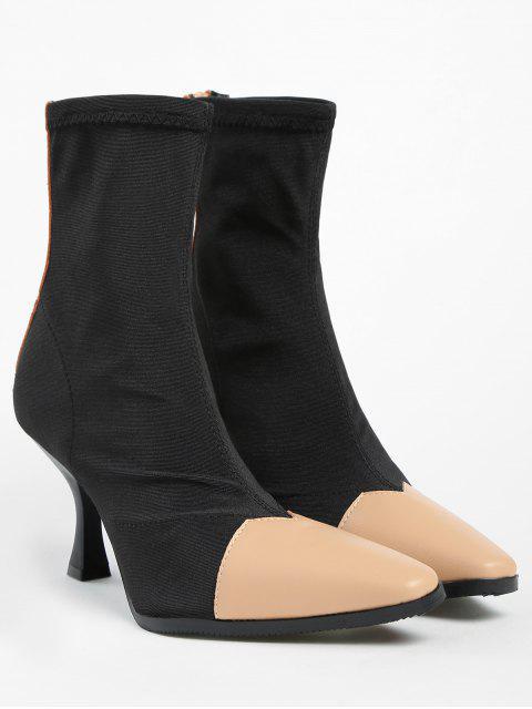 ZAFUL Контрастный цвет С острым носком Короткие Сапоги - Абрикосовый 37 Mobile