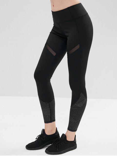 Malla Insertar leggings de entrenamiento geométrico - Negro M Mobile