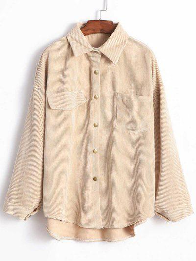 85399610f8cce Corduroy Shirt Jacket - Light Khaki