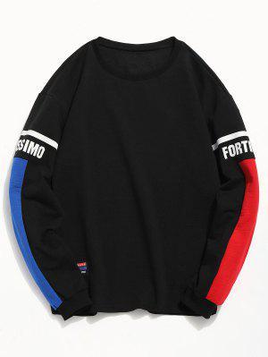 Streifen-Buchstabe-Farben-Block-T-Shirt