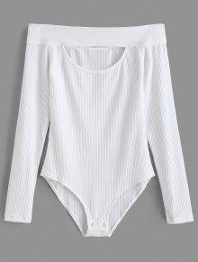 كم طويل من الكتف حك ارتداءها - أبيض L