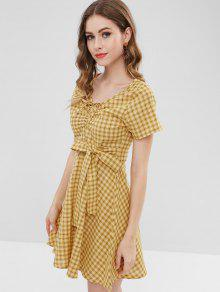 d4b2215205f Tie Waist Tartan Dress  Tie Waist Tartan Dress ...