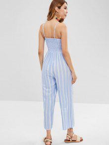 2196ebc5bafc ... Knotted Striped Wide Leg Jumpsuit. lady Knotted Striped Wide Leg  Jumpsuit - LIGHT BLUE L