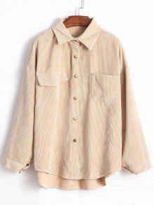 الجبهة جيب سروال قصير قميص سترة - ضوء الكاكي
