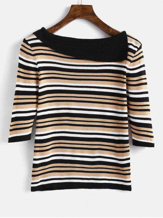 sale Slim Fit Stripes Sweater - MULTI ONE SIZE