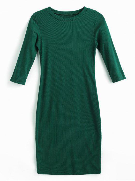 Robe Moulante Mi-Longue - Vert Mer Moyen M