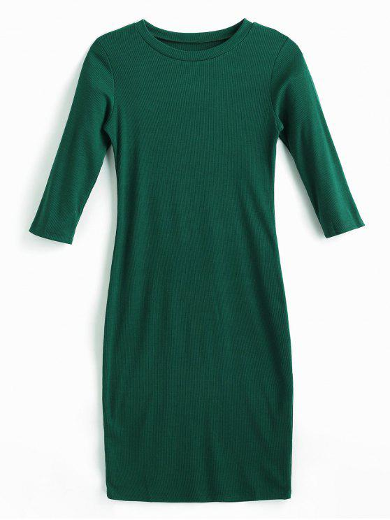 Robe moulante midi - Vert Mer Moyen L