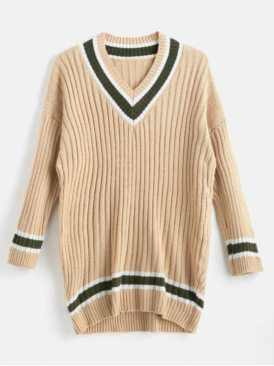 fashion Loose Fit Cricket Sweater - TAN ONE SIZE