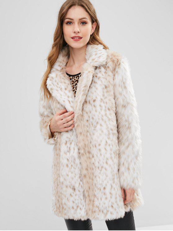 Winter Faux Fur Coat   Multi S by Zaful