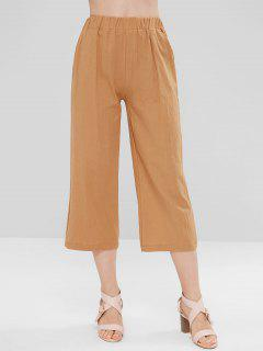 Wide Leg Capri Pants - Cinnamon L