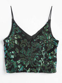 Sparkly Sequins Cami Top - Negro L