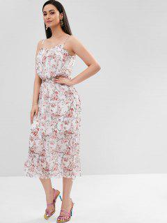 Robe à Bretelle Petite Florale - Multi L
