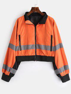 Zip Pocket Reflective Jacket - Sandy Brown L