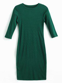 Midi Bodycon Dress - Medium Sea Green L