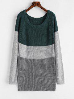 Tunic Color Block Sweater - Multi