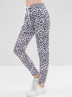 Cow Print Skinny Pants - White M