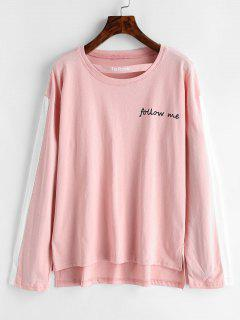 Cutout Follow Me Graphic Top - Pig Pink