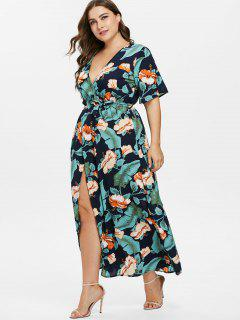 Robe Maxi Plus Feuille Florale - Multi 3x