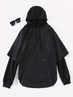 Streetwear Solid Two Piece Hoodies - Black L
