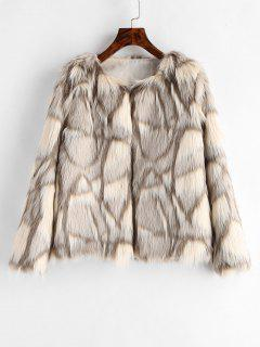 Faux Fur Fluffy Coat - Multi L