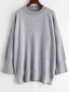 Suéter De Gran Tamaño Marled - Gris Claro