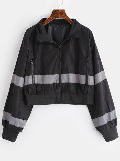 Zip Pocket Reflective Jacket - Black L