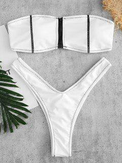 ZAFUL Bikini-Set Mit Reißverschluss Vorne - Weiß M