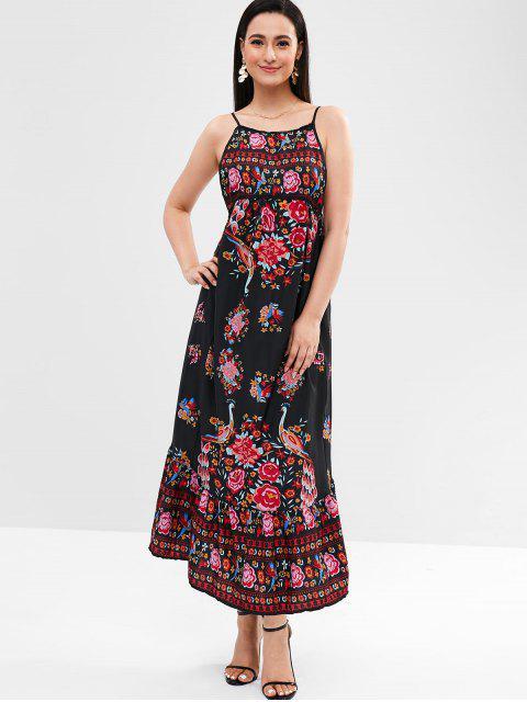sale Cami Floral Maxi Dress - BLACK 2XL Mobile