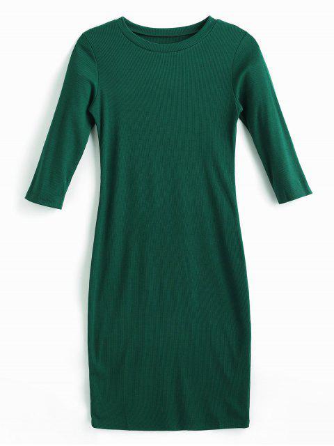 Midi-Figurbetontes Kleid - Mittleres Meer Grün L Mobile