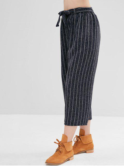 Pantalones anchos de raya vertical - Azul Profundo Talla única Mobile