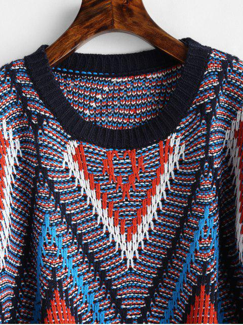 Suéter de estampado geométrico - Multicolor Talla única Mobile